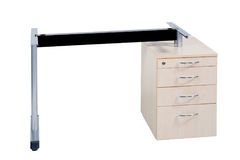 Metal table with two legs and drawers Royalty Free Stock Image