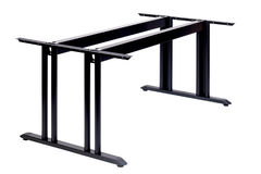 Metal table with two legs Stock Photo