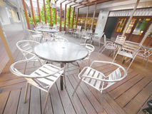 Metal Tables and chairs Stock Photo