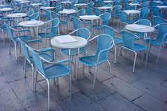Metal tables and chairs Stock Images
