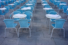 Metal tables and chairs Royalty Free Stock Photo