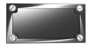 The metal tablet. For an inscription vector illustration