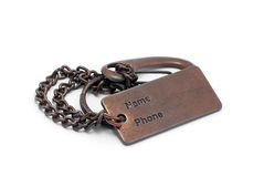 Metal tag Royalty Free Stock Image