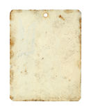 Metal tag sheet. Isolated on white background Royalty Free Stock Photo