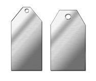 Metal tags Royalty Free Stock Images