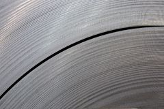 Metal tape. Part of the circle of the metal strip Royalty Free Stock Photography