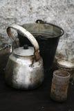 Metal teapot Stock Photos