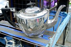 The metal teapot Royalty Free Stock Photography