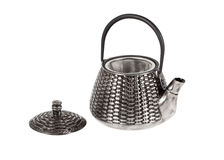 Metal teapot with the removed cover Stock Photography