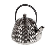 Metal teapot for tea Royalty Free Stock Images