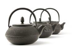asian Metal teapots Royalty Free Stock Image