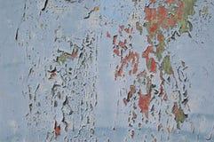 Metal tekstura z narysami i pęknięciami, krakingowa farba Obraz Royalty Free