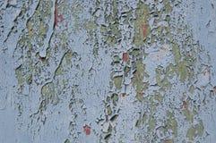 Metal tekstura z narysami i pęknięciami, krakingowa farba Obrazy Stock