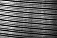 Metal tekstury popielate małe dziury obrazy stock