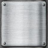 Metal tekstury szablonu tło. Stalowy talerz. Obraz Royalty Free