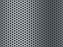 Metal tekstury wz?r Bezszwowy stalowy talerz, nierdzewna siatka Chrome sześciokąta grunge mozaiki aluminium dziurkujący koniec ilustracja wektor