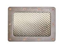 Metal tekstury wzoru styl stalowy tło talerz z ramą Zdjęcie Stock