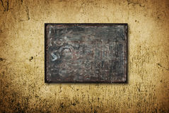 Metal template. On a Grunge Background Stock Images