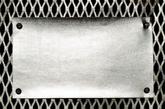 Metal template background. Grunge pattern of metal background Royalty Free Stock Photo