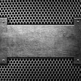 Metal template background Stock Image