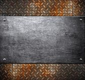Metal template background Stock Photos