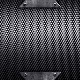 Metal template background vector illustration