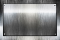 Metal template background. With scratches vector illustration