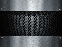 Metal template background Stock Images