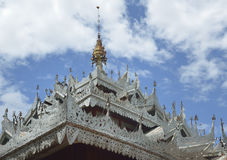 Metal temple roof Royalty Free Stock Photos