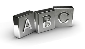 Metal Text Cube Stock Images