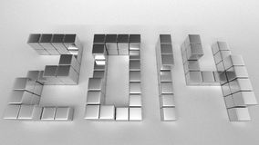 Metal Text 2014Top. The cubic metal to be new year 2014 Royalty Free Stock Photo