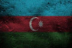 Metal a textura ou o fundo com mistura da bandeira de Azerbaijão Imagens de Stock Royalty Free