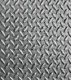 Metal texture. Old silvery metal ribbed surface stock photo