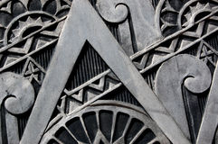 Metal texture. An interesting art deco metal texture, as seen on a building in Buffalo, NY Stock Photo