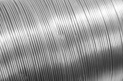 Metal texture. Closeupof shiny metal tube texture Stock Photography