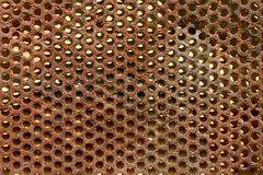 Metal texture. Rusty metal plate with holes royalty free stock images