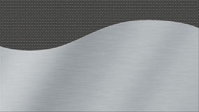 Metal texture background with brushed steel and dark metal woven Royalty Free Stock Image