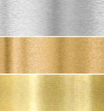 Metal texture background :gold, silver, bronze Stock Image