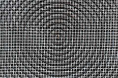 Metal texture background. Square grid with circle. Royalty Free Stock Photo