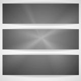 Metal Texture Banner. Stock Images