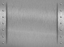 Metal texture with border and rivets Royalty Free Stock Photography
