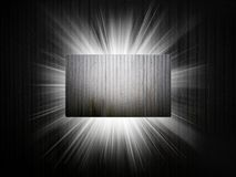 Metal texture of business card 3d presentation Stock Image