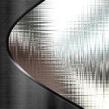 Metal Texture Design. Background of wavy, shiny, silver metal textures in a curve design Royalty Free Stock Photos