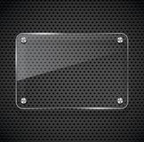Metal texture with glass framework. Vector illustration Stock Image