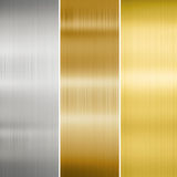 Metal texture gold, silver and bronze