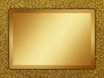 Metal Texture. Golden plate on a golden background Stock Images