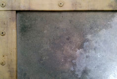 Metal texture with half border Royalty Free Stock Images