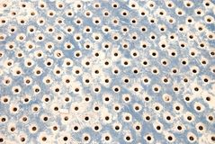 Metal texture with hole Stock Photos