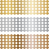 Metal texture with holes. The texture of gold, silver and bronze with holes. Mesh made of metal. royalty free illustration