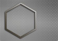 Metal texture honeycomb background Royalty Free Stock Image